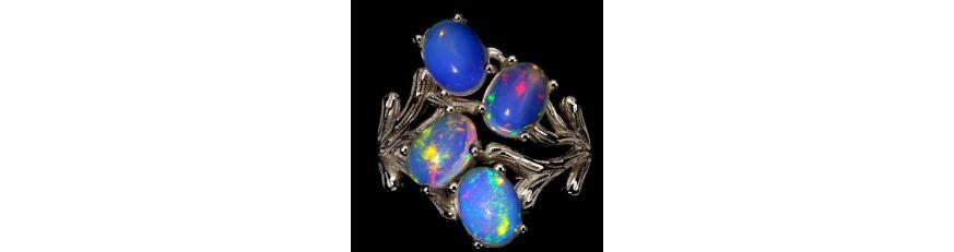 Купить кольцо с камнем опал