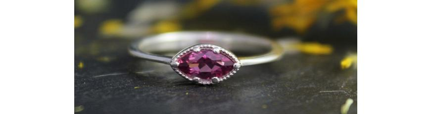 серебряное кольцо с турмалином цена
