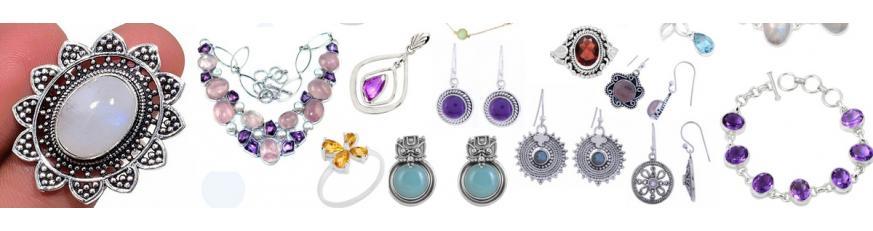 СЕРЕБРЯНЫЕ УКРАШЕНИЯ ИНДИЯ - драгоценные камни и украшения из серебра в Украине.