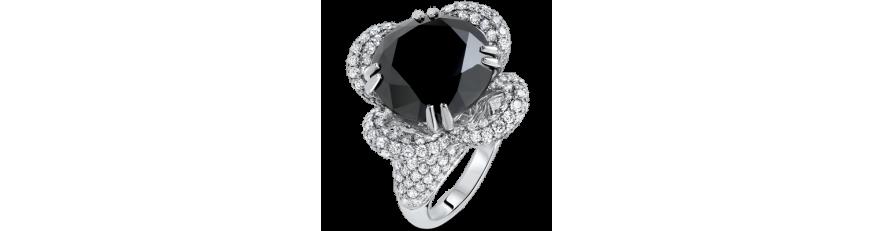 Кольца с черными камнями