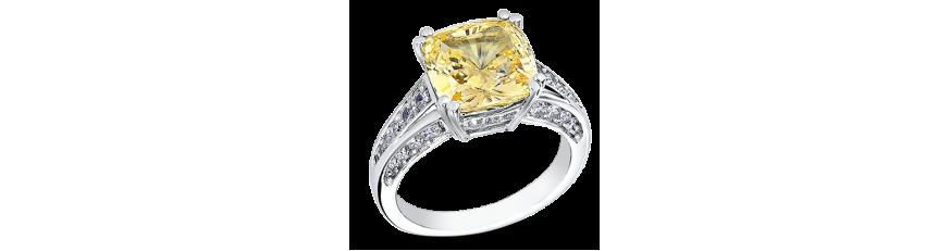 Кольца с желтыми камнями