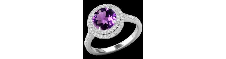 кольцо с фиолетовым камнем купить в Украине