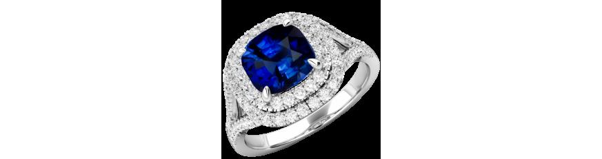 купить кольцо с синим камнем