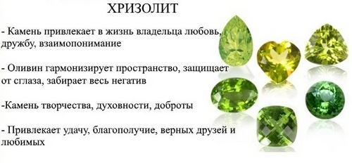 Хризолит (перидот) значение, магические свойства, Знаки Зодиака